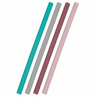 Silicone Straw 4 pcs Mix