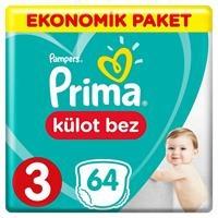 Külot Bebek Bezi 3 Beden Midi Ekonomik Paket 6-11 kg 64 Adet