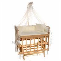 Natural Mother Side Lara Elevator Cradle 60x90 cm Cream + Bedding Set