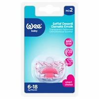836 Transparent Patterned Orthodontical Soother