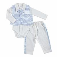 Baby Boy Special Day Bowtie Texture Bodysuit Pants Hat 3 pcs Set