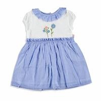 Flower Embroidered Baby Girl Dress