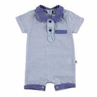 Summer Baby Boy Pocket Detail Short Sleeve Polo Neck Romper