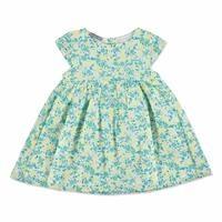 Summer Vual Short Sleeve Crew-Neck Baby Girl Dress