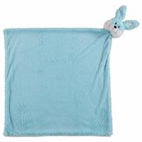Tavşan Pelüş Battaniye Mavi 75x75