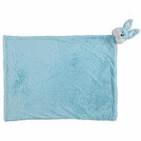 Rabbit Plush Baby Blanket Blue 80x100 cm