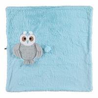 Owl 2D Plush Baby Blanket Blue 75x75 cm