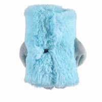 Owl 2D Plush Baby Blanket Blue 80x100 cm