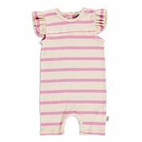 Summer Baby Girl Striped Supreme Crew-Neck Jumpsuit
