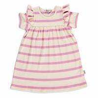 Summer Baby Girl Striped Supreme Crew-Neck Dress