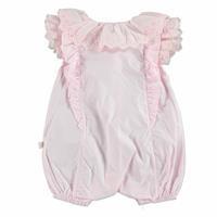 Summer Baby Girl Button Detail Short Sleeve Romper