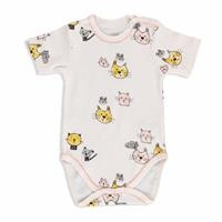 Summer Baby Girl Fun Cats Short Sleeve Bodysuit