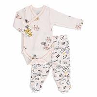 Summer Baby Girl Fun Cats Bodysuits Pant 2 pcs Set