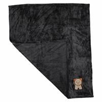 Multipurpose Little Lion Embroidered Baby Blanket 80x90 cm - Anthracite