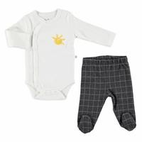 Winter Smile Baby Bodysuits Footed Pants 2 pcs Set