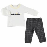 Winter Smile Baby Polo Neck Sweatshirt Footed Pants 2 pcs Set