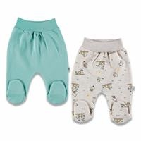 Colorful Dog Three Rope Baby Footed Pants 2 pcs
