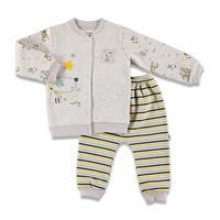 Colorful Dog Three Rope Baby Tracksuit Set