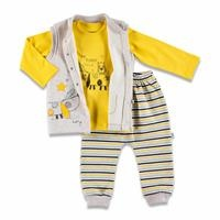 Colorful Dog Three Rope Baby Sweatshirt Trousers Vest Set 3 pcs