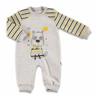 Colorful Dog Three Rope Baby Footless Romper