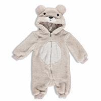 Baby Boy Lion Hoodie Footless Wellsoft Romper