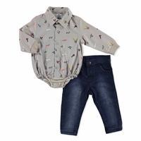 Baby Pilot Shirt Pant Set