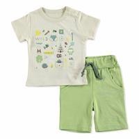 Yaz Baby Boy Kampçı Süprem Kısa Kol Çıtçıtlı Yaka 2li Tshirt-Şort