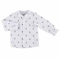 Winter Owl Printed Baby Boy Judge Collar Shirt