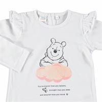 Kış Kız Bebek Winnie The Pooh Lisanslı Kolları Fırfırlı Sweatshirt