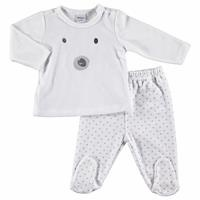 Little Cute Paws Baby Velvet Top Footed Trousers 2 pcs Set