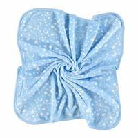 Bebek Çok Amaçlı Beyaz Yıldız Desenli Polar Battaniye
