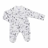 Winter Baby Boy Mom Elephant Emprime Footed Romper