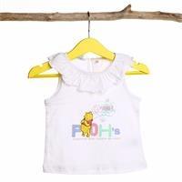 Kız Bebek Winnie The Pooh Yakası Fırfırlı T-Shirt