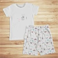 Animals Printed Short Sleeve Baby Pyjamas