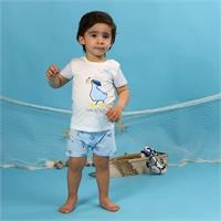 Baby Boy Little Fisher Printed Tshirt
