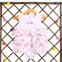 Flowered Baby Girl Dress Bodysuit