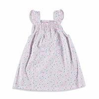 Kız Bebek Kolları Fırfırlı Dokuma Elbise