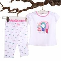Surfer Baby Girl Tshirt Leggings Set