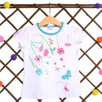 Flowered Baby Girl Short Sleeve Tshirt