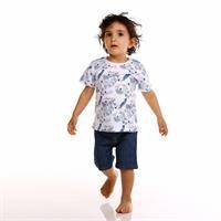 Erkek Bebek Papağan Baskılı Süprem Tshirt