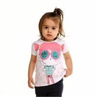 Bisiklet Yaka Pinky Girl Kız Bebek Süprem Tshirt