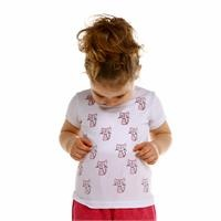 Crew Neck Printed Baby Girl Tshirt