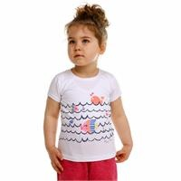 Crew Neck Fishes Baby Girl Tshirt