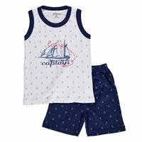 Yaz Erkek Bebek Marine Süprem Bisiklet Yaka 2li Tshirt-Şort