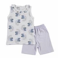 Summer Baby Girl Elephant Supreme Turtle Neck T-shirt Short 2 pcs Set