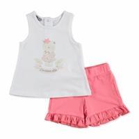 Yaz Kız Bebek Çiçekli Süprem Tshirt-Şort