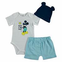Yaz Erkek Bebek Mickey Mouse Body-Patiksiz Alt Bere Takım