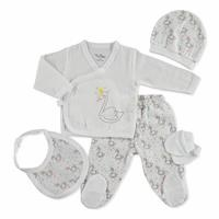 Summer Baby Girl Swan Newborn Hospital Pack 5 pcs