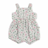 Summer Baby Girl Lisa Rope Strap Cew-Neck Dungarees