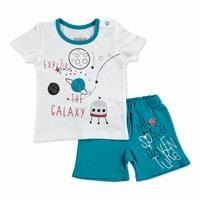 Summer Baby Boy To Space Theme T-shirt Short Set